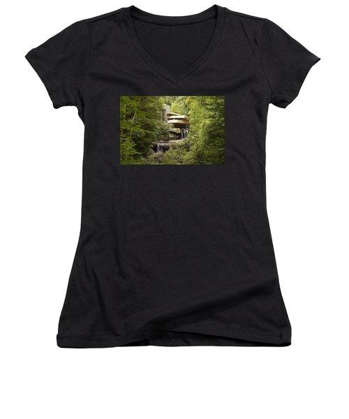 Falling Water Women's V-Neck T-Shirt