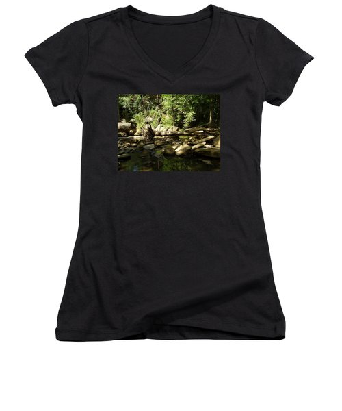 Falls Park Women's V-Neck (Athletic Fit)