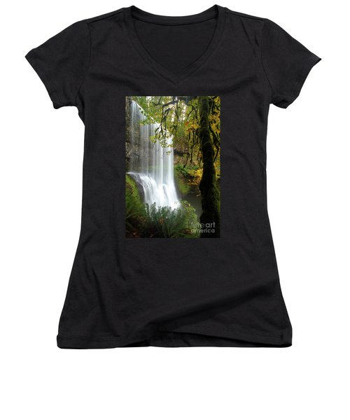 Falls Though The Trees Women's V-Neck (Athletic Fit)