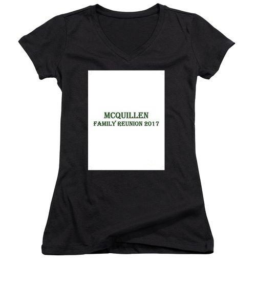 Family Reunion 2017 Women's V-Neck T-Shirt (Junior Cut) by John A Rodriguez