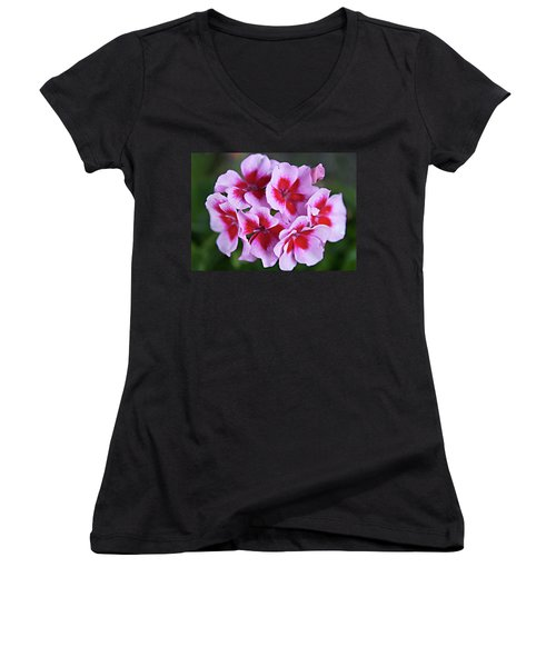 Women's V-Neck T-Shirt (Junior Cut) featuring the photograph Family by Sherry Hallemeier