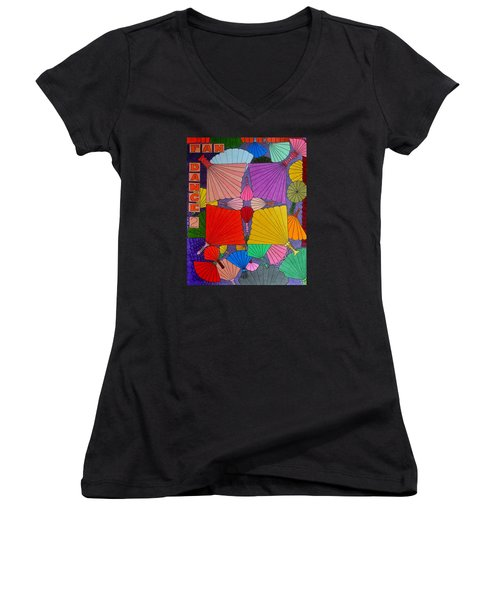 Fan Dance 2 Women's V-Neck (Athletic Fit)