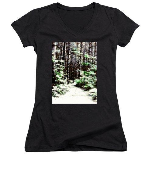 Fantasy Forest Women's V-Neck T-Shirt