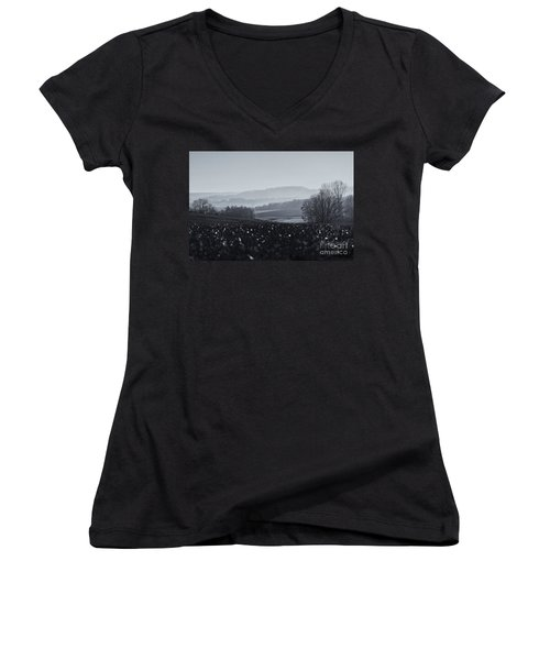 Far Away, The Misty Mountains Cold Women's V-Neck (Athletic Fit)
