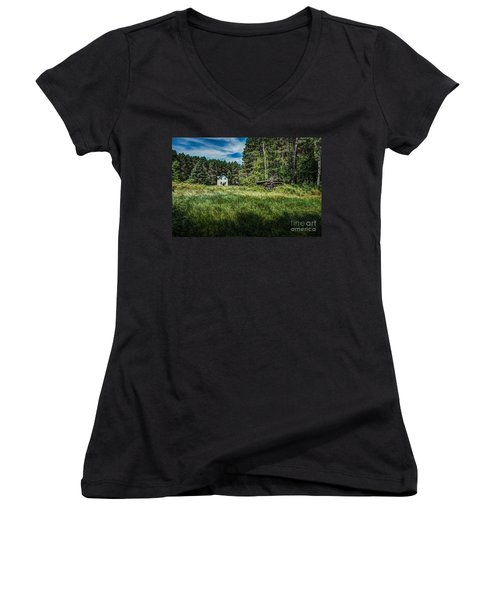 Farm In The Woods Women's V-Neck