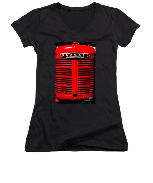 Farmall Grill Women's V-Neck (Athletic Fit)