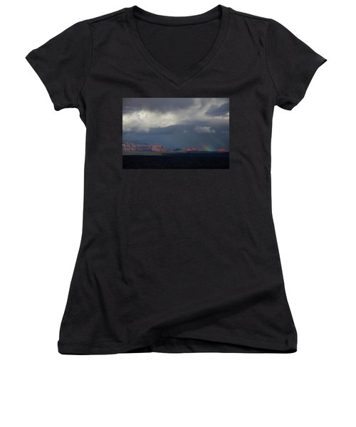 Fat Ground Rainbow, Red Rocks Sedona Women's V-Neck