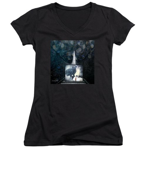 Fear Of Stairs Women's V-Neck T-Shirt