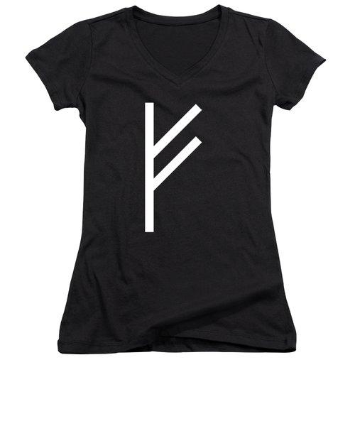 Fehu Rune Women's V-Neck