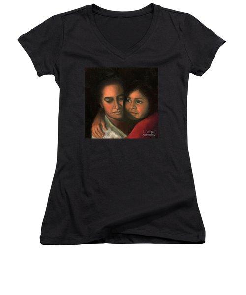 Felicia And Kira Women's V-Neck T-Shirt (Junior Cut) by Marlene Book