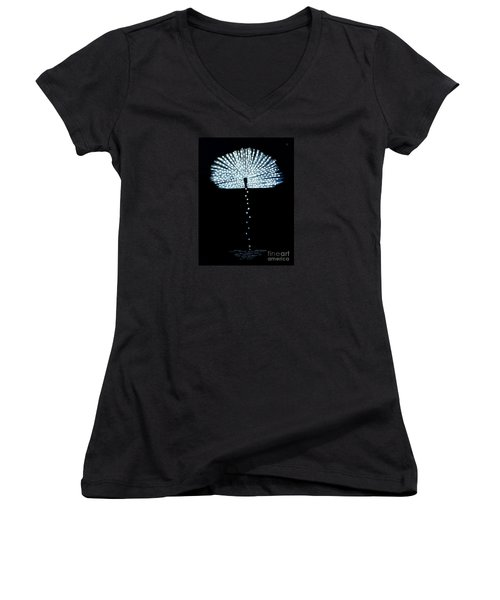 Female Feather Women's V-Neck T-Shirt (Junior Cut) by Fei A