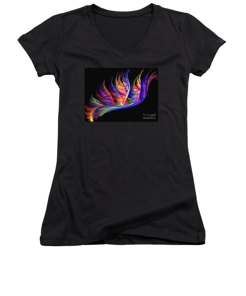 Fenghuang Women's V-Neck T-Shirt