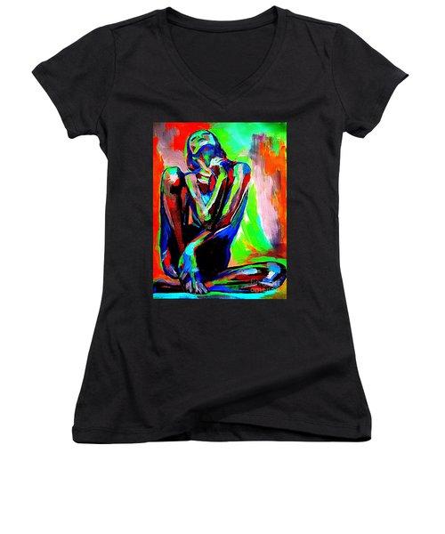 Fervidly Women's V-Neck T-Shirt (Junior Cut) by Helena Wierzbicki