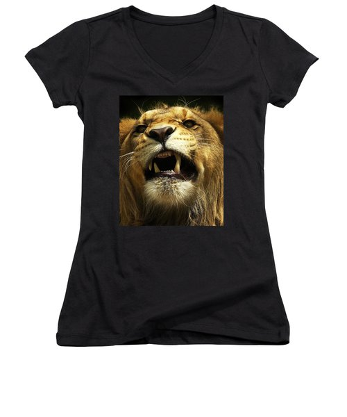 Fierce Women's V-Neck T-Shirt (Junior Cut)