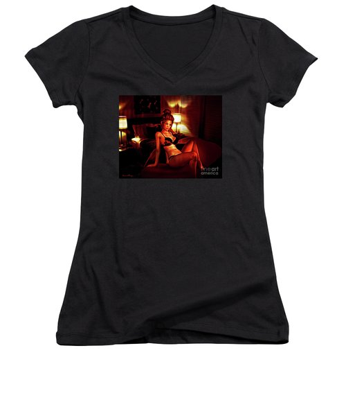 Fiery Nights Women's V-Neck (Athletic Fit)