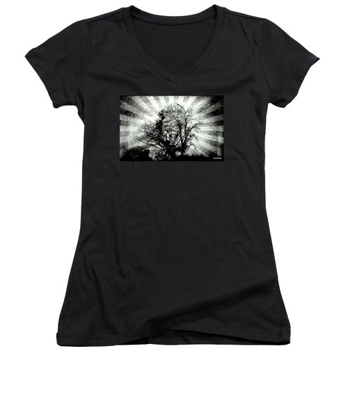 Fifty Cents For Your Soul Women's V-Neck T-Shirt (Junior Cut) by Paulo Zerbato