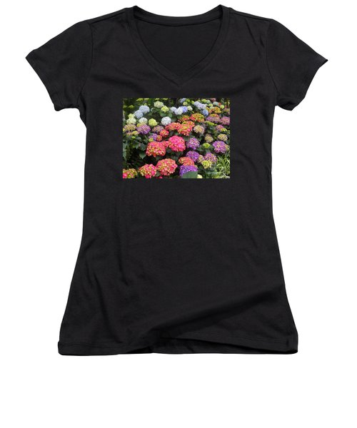 Fifty Shades Of Hydrangea Women's V-Neck (Athletic Fit)