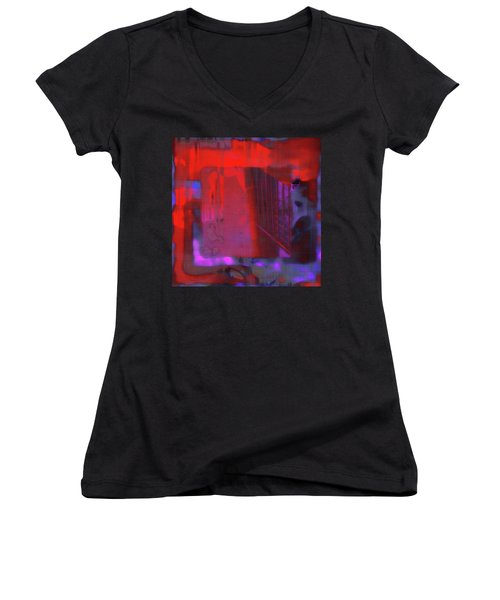 Women's V-Neck T-Shirt featuring the digital art Final Scene - Before The Bell by Wendy J St Christopher
