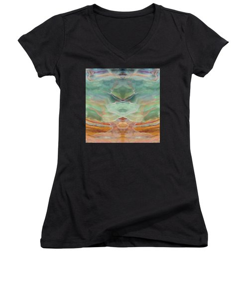 Finding Peace Women's V-Neck T-Shirt (Junior Cut) by Ann Tracy