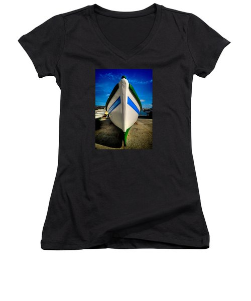 Fine Art Colour-108 Women's V-Neck (Athletic Fit)