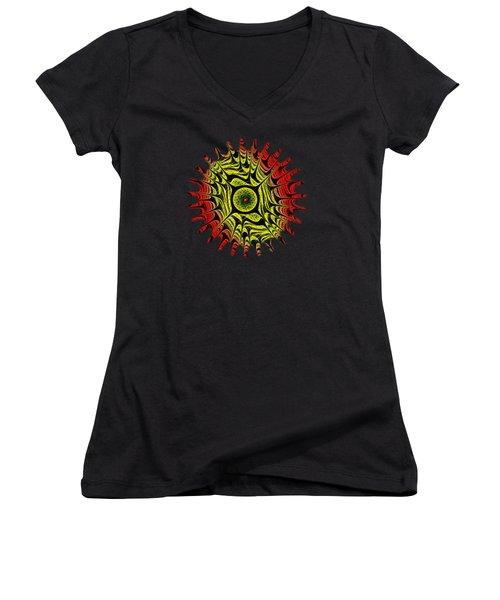 Fire Dragon Eye Women's V-Neck T-Shirt