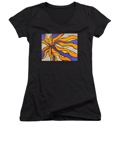 Fire, Ice, And Water Women's V-Neck T-Shirt