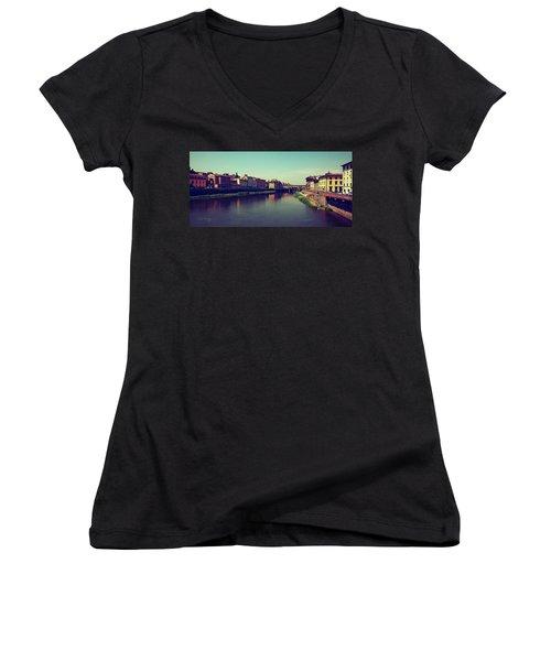 Firenze Women's V-Neck T-Shirt (Junior Cut) by Joseph Westrupp