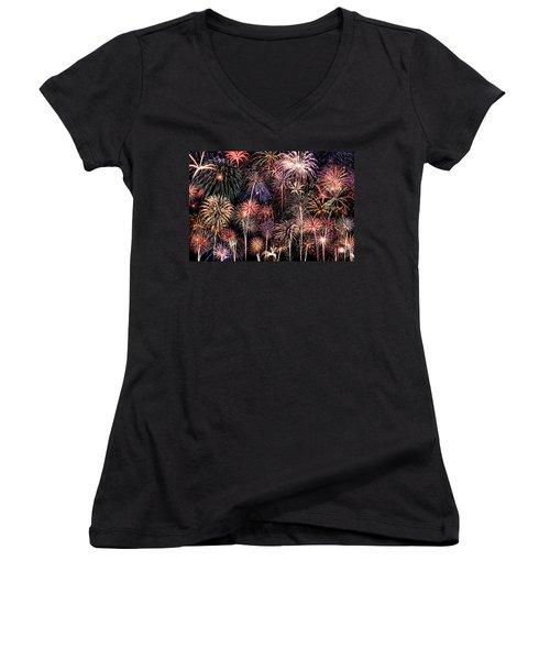 Fireworks Spectacular II Women's V-Neck T-Shirt