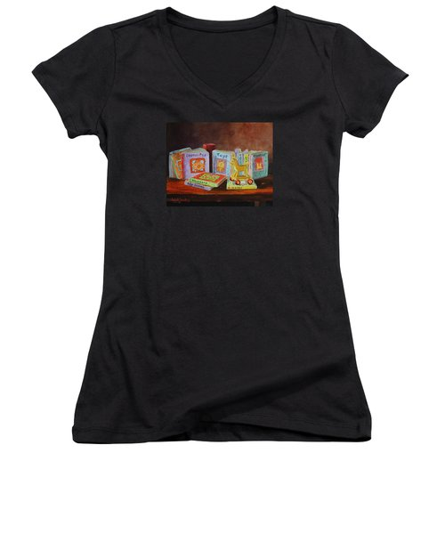 First Books Women's V-Neck (Athletic Fit)