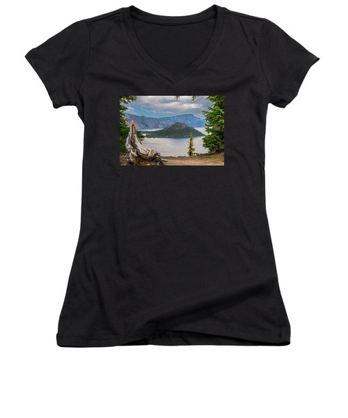 First Crater View Women's V-Neck