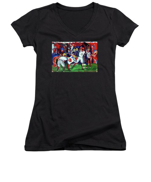 First Down Women's V-Neck