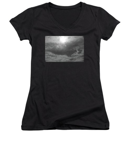 First Flakes Of The Season Women's V-Neck T-Shirt (Junior Cut) by Jesse Ciazza
