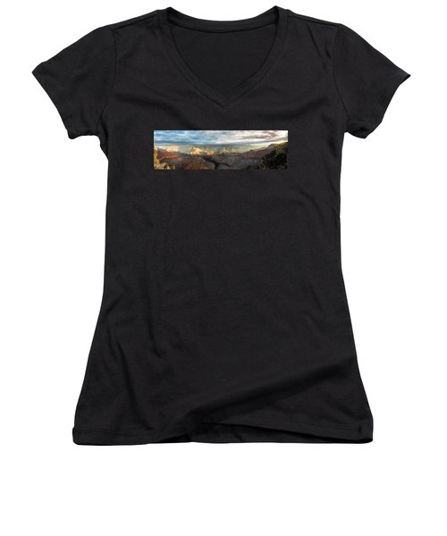 First Light In The Canyon Women's V-Neck