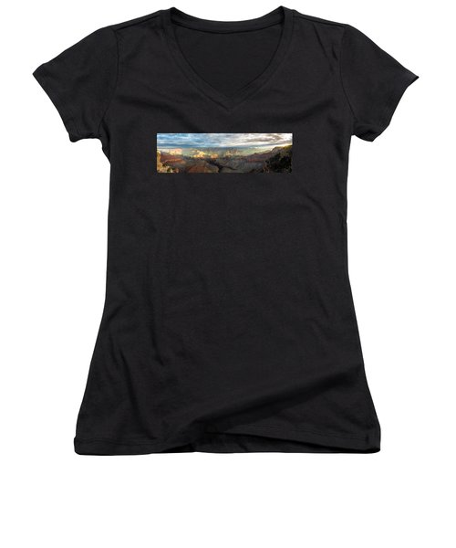 First Light In The Canyon Women's V-Neck (Athletic Fit)