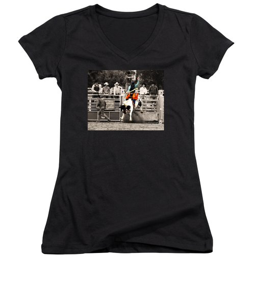 First Out Of The Chute Women's V-Neck (Athletic Fit)