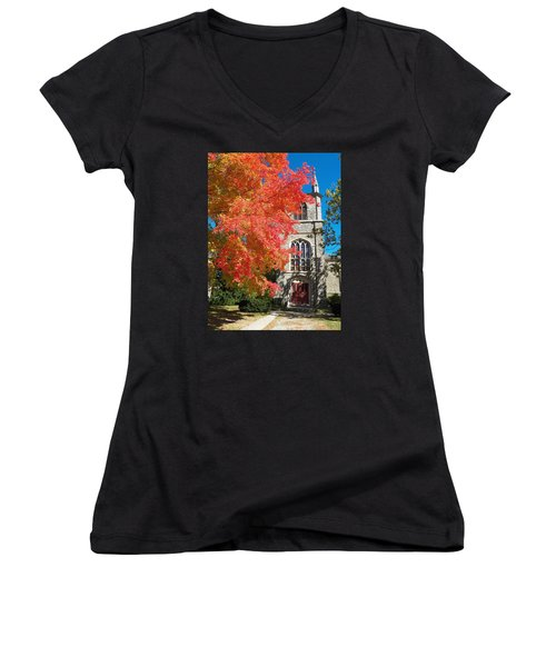 First Parish Unitarian Church Women's V-Neck T-Shirt