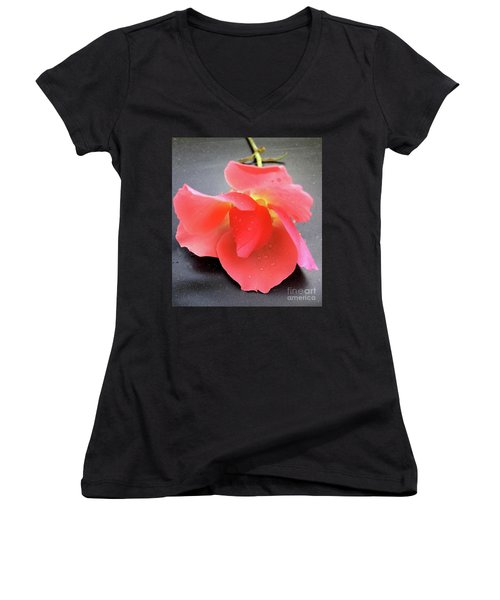 First Rose  Women's V-Neck