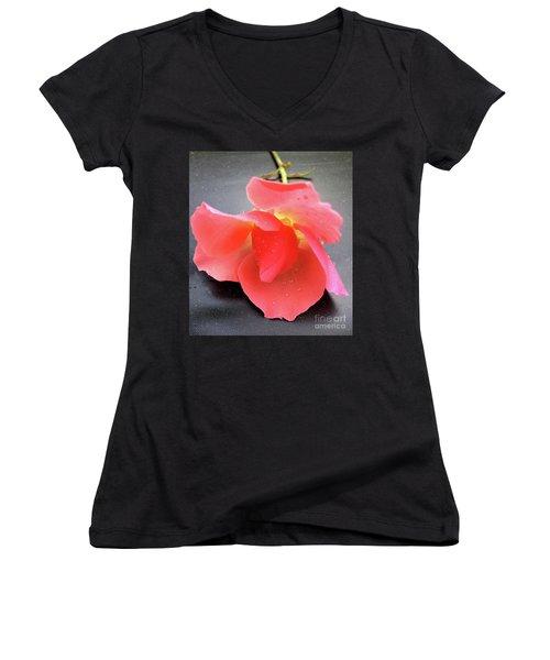 First Rose  Women's V-Neck