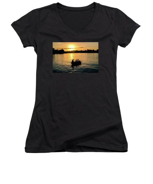 Fishing In Auckland Women's V-Neck (Athletic Fit)