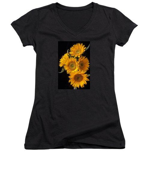 Five Sunflowers Women's V-Neck