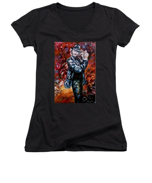 Flamenco Dancer 19 Women's V-Neck T-Shirt