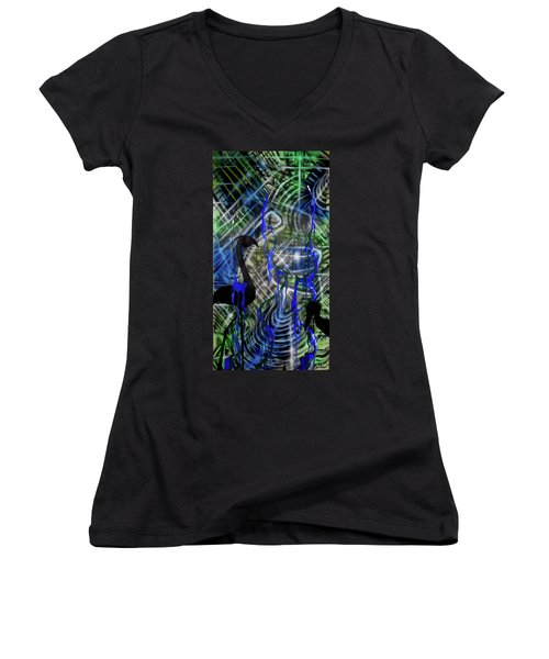Flamingo Fountain Women's V-Neck