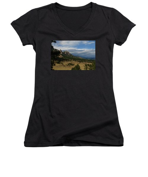 Flatirons, Boulder, Colorado Women's V-Neck