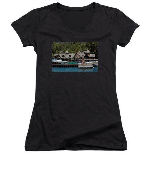 Fleur De Lac Mansion The Godfather II Women's V-Neck T-Shirt