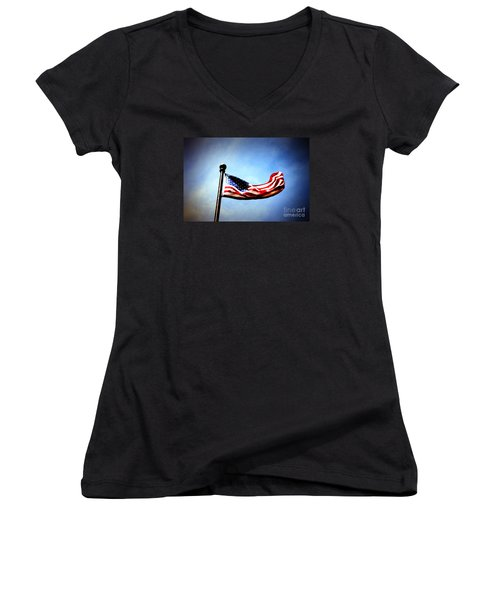 Flight Of Freedom Women's V-Neck (Athletic Fit)