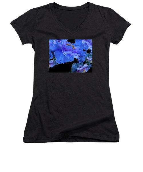 Floating Bouquet 10 Women's V-Neck T-Shirt (Junior Cut) by Lynda Lehmann