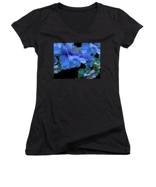 Floating Bouquet 14 Women's V-Neck T-Shirt (Junior Cut) by Lynda Lehmann