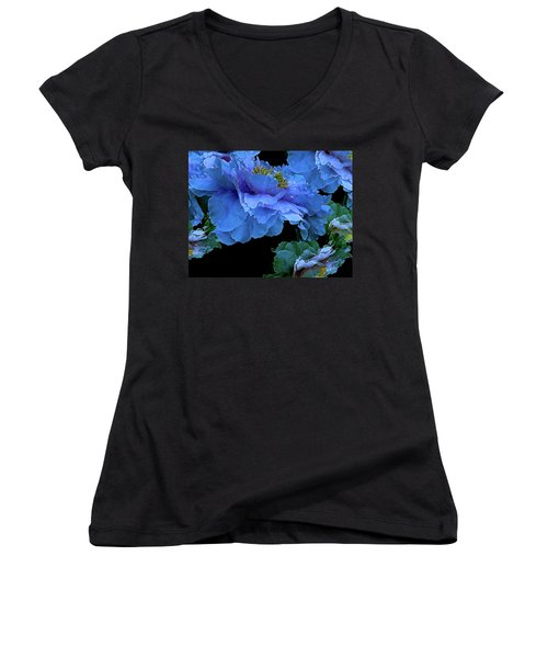 Floating Bouquet 14 Women's V-Neck (Athletic Fit)