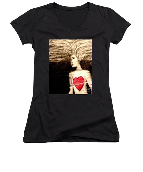 Floating Heart Women's V-Neck T-Shirt
