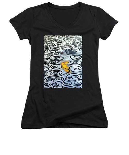Floating Hearts Sixteen Women's V-Neck T-Shirt